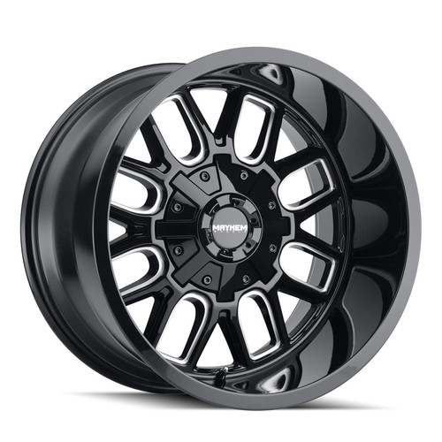 Mayhem Cogent Gloss Black/Milled Spokes 20x9 8x165.1/8x170 0mm 130.8mm