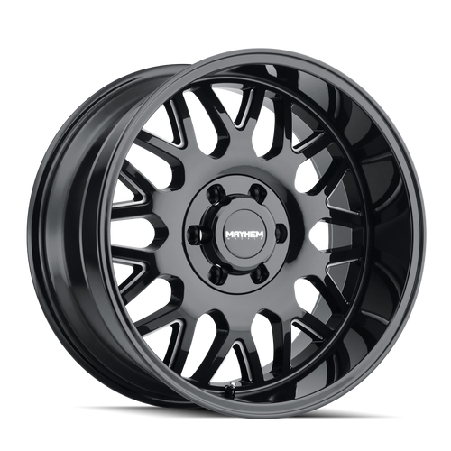 Mayhem Tripwire Gloss Black w/ Milled Spokes 20x9 8x170 18mm 130.8mm
