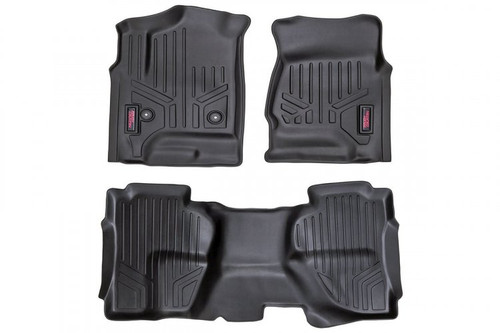 Chevy/GMC Heavy Duty Floor Mats (Front&Rear)-(07-13 Silverado/Sierra- 07-14 HD)