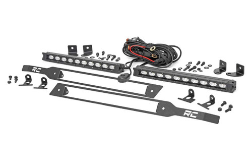 Chevy Dual 10in LED Grille Kit (19-20 Silverado 1500) - Black Series