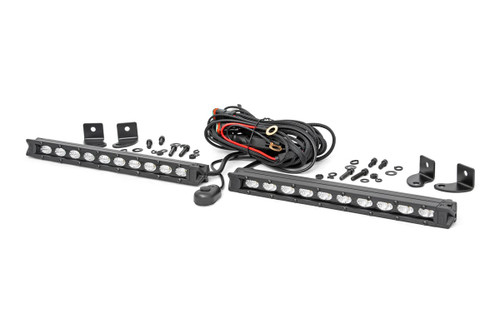 10-inch Slimline Cree LED Light Bars (Pair) - Black