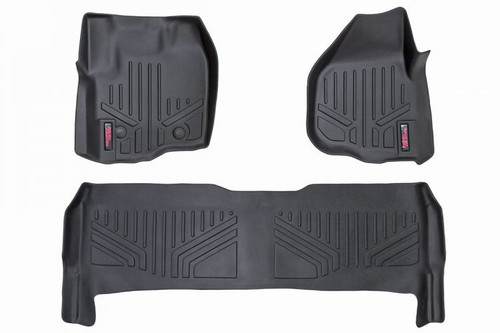 Heavy Duty Floor Mats (Front/Rear) - (12-16 Ford Super Duty Crew Cab/Raised Pedal)