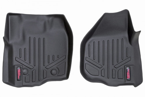 Heavy Duty Floor Mats (Front) - (12-16 Ford Super Duty Crew Cab/Raised Pedal)