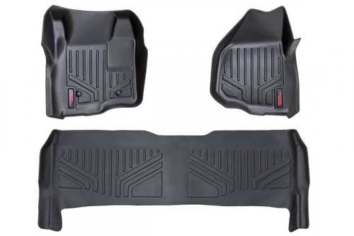 Heavy Duty Floor Mats (Front) - (11-16 Ford Super Duty Crew Cab/Depressed Pedal)