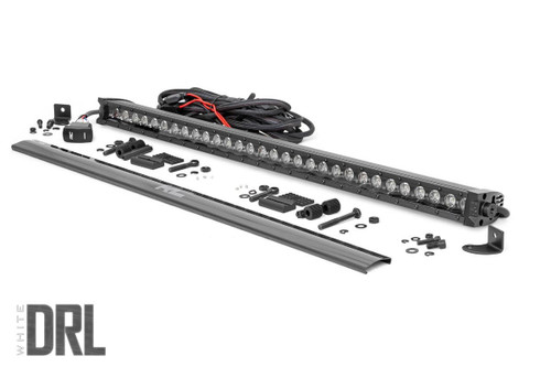 30-inch Cree LED Light Bar (Single Row | Black Series w/ Cool White DRL)