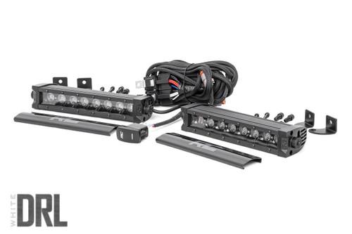 8-inch Cree LED Light Bar (Single Row, Pair | Black SEries w/ Cool White DRL)