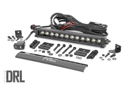 12-inch Cree LED Light Bar - (Signle Row | Black Series w/ Cool White DRL)