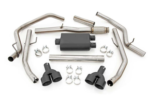 Dual Cat-Back Exhaust System w/ Black Tips (19-20 Chevy Silverado | 5.3L)