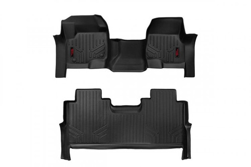 Heavy Duty Floor Mats (Front/Rear)(17-20 Ford Super Duty Crew Cab) Bench Seats