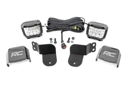 Polaris Dual LED Cube Kit (16-2- General) - 3-inch Osram Wide Angle Series