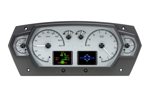 Universal 6 Gauge Competition Analog HDX Instruments with Silver Alloy Background