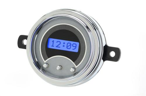 1949-50 Ford Car VHX Digital Clock - Silver Alloy Background