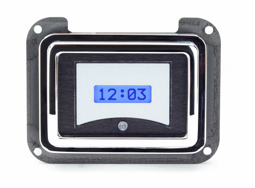 1940 Ford Car VHX Digital Clock - Silver Background with Blue Lighting