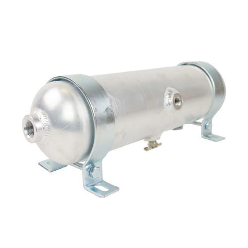 1 Gallon Raw Aluminum Tank With 5 Ports - end view