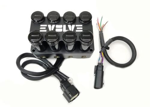 EVOLVE 4-Corner Billet Manifold Valve- Black Powder Coated Finish