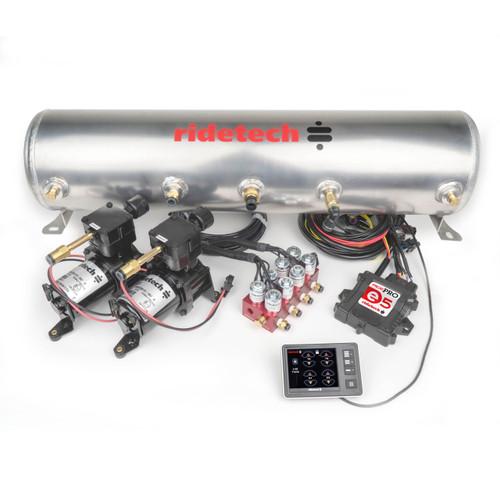 "RidePro E5 Air Ride Suspension Control System | 3 Gallon Dual Compressor - 1/4"" Valves"