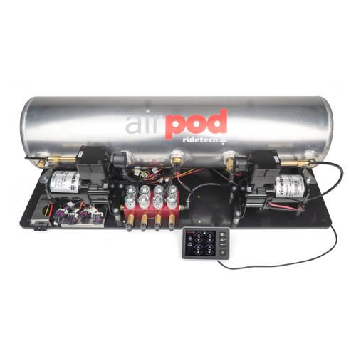 "RidePro E5 Air Ride Suspension Control System | 5 Gallon Dual Compressor AirPod - 1/4"" Valves"