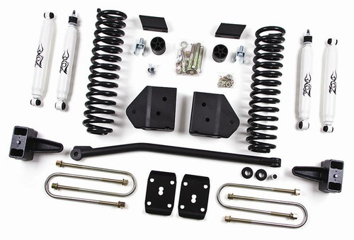 """2011 F250, F350 Super Duty Gas 4WD W/Top Overload Springs 4"""" Lift Kit"""