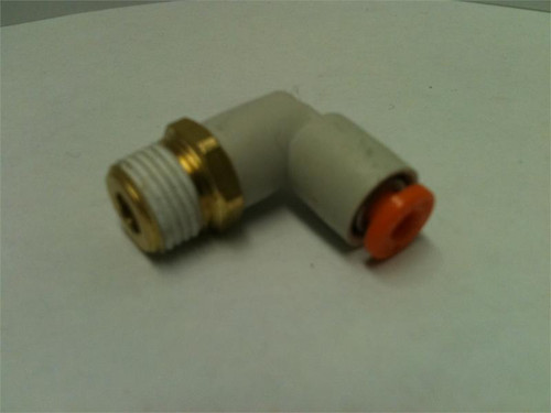 """Elbow- Male 1/8"""" NPT x 1/8"""" Tube side view"""