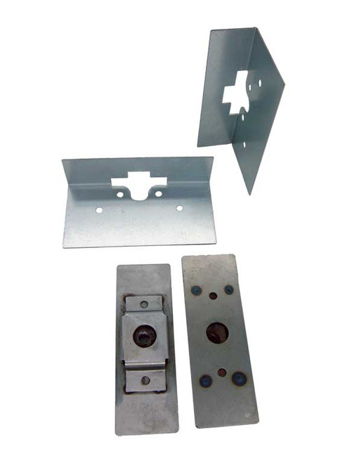 Install Plate Kit For Heavy Duty Large Dual Claw Lacthes & Bolts,Pair