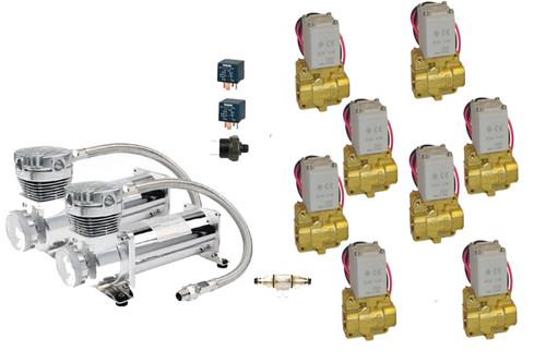 Air Suspension Builders Starter Kit compressor and valve package