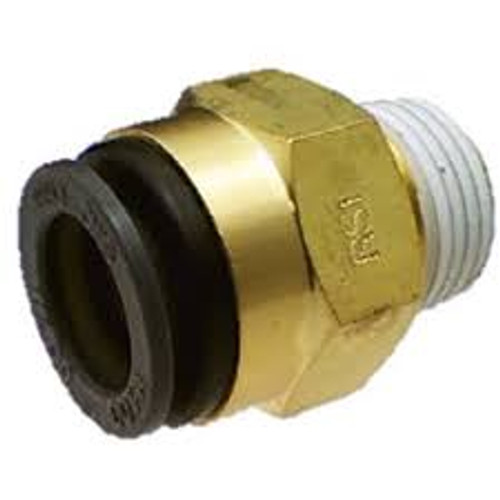 "Straight- Male 1/4"" NPT x 3/8"" Tube Brass SMC"