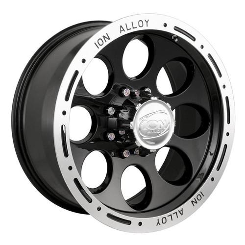 Ion Alloy 174 Series Wheels Black 16X8 6 x 139.7