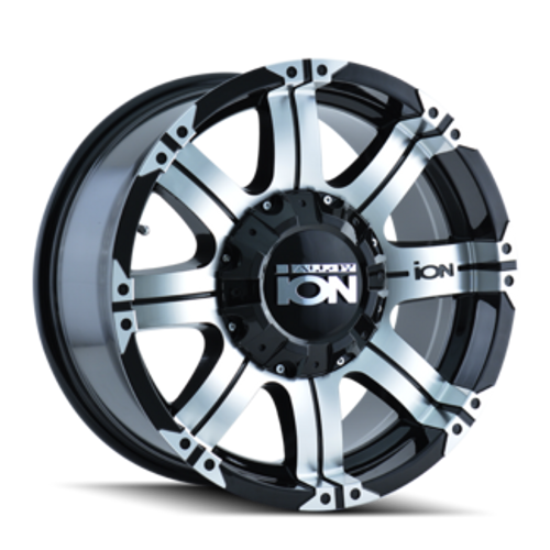 Ion 186 Black/Machined Face 17X8 5-114.3/5-127 10mm 87mm