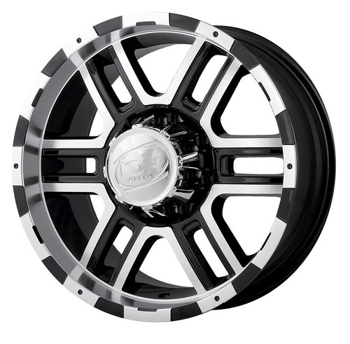 Ion 179 Black/Machined 17X9 8 X 165.1