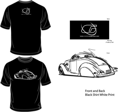 Black Tee Shirt With White Car