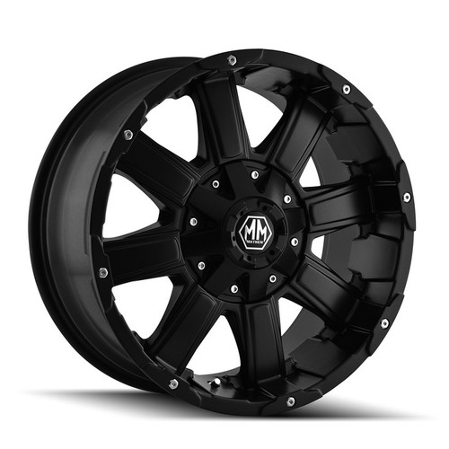 Mayhem Chaos 8030 Matte Black 20x12 8-180 -44mm 124.1mm