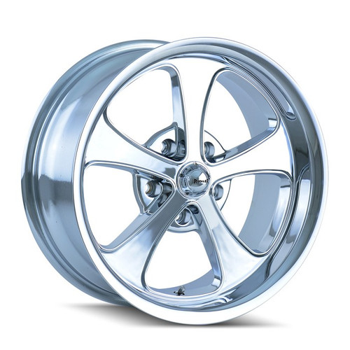 Ridler 645 Chrome 17x7 5-114.3 0mm 83.82mm