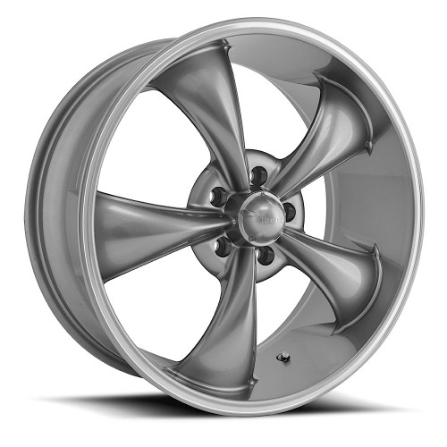 Ridler 695 Grey/Machined Lip 17x7 5-127 0mm 83.82mm