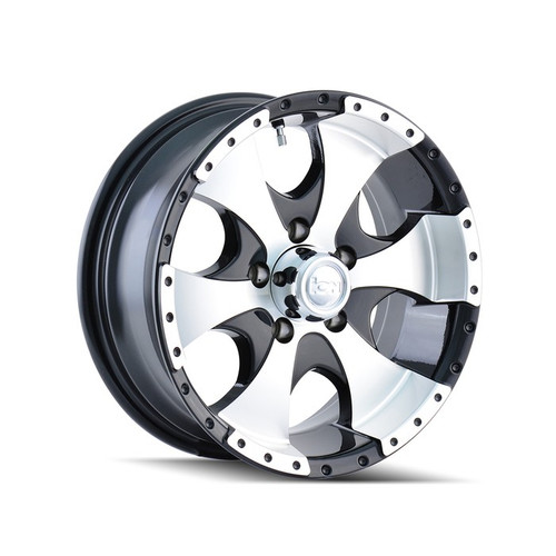 Ion Trailer Wheels 136 Black/Machined 14x6 5-114.3 0mm 83.82mm