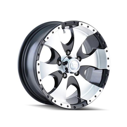 Ion Trailer Wheels 136 Black/Machined 15x6 5-114.3 0mm 83.82mm