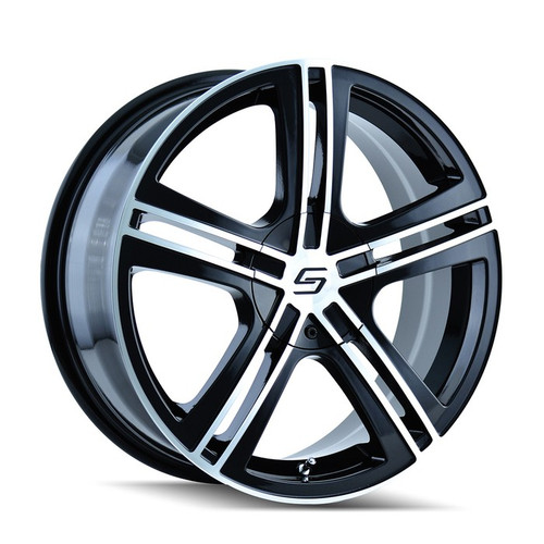 Sacchi 262 Black/Machined Face 18x7.5 5-112/5-120 40mm 72.62mm