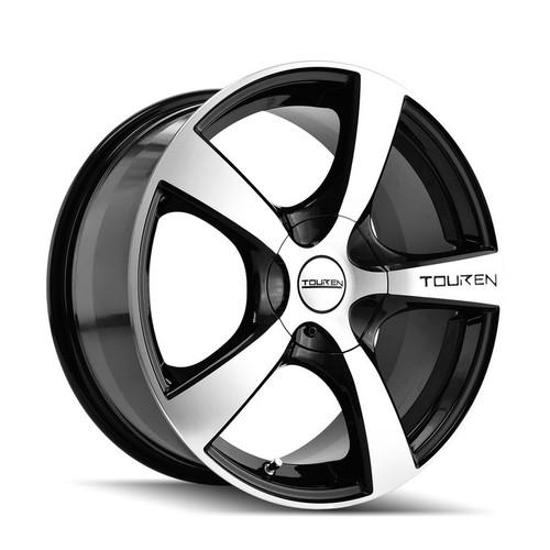 Touren 3190 Black/Machined 17X7 5-100/5-114.3 48mm 72.62mm