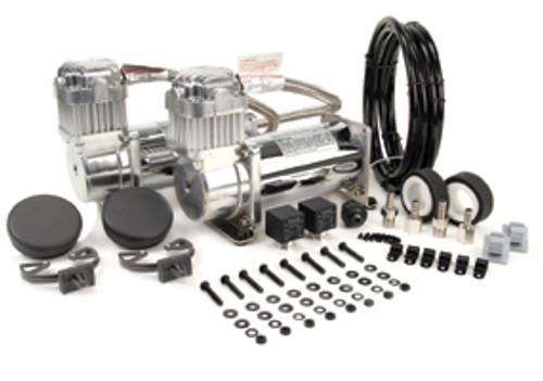 Viair 12v 380C Air Compressor Chrome Dual Pack - 200psi