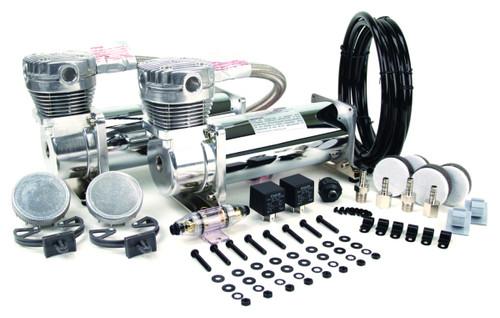 Viair 12v 480C Air Compressor Chrome Dual Pack - 200psi