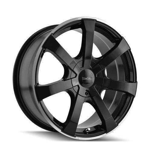 Touren 3290 Black/Machined Ring 18X8 5-114.3/5-120 20mm 74.1mm