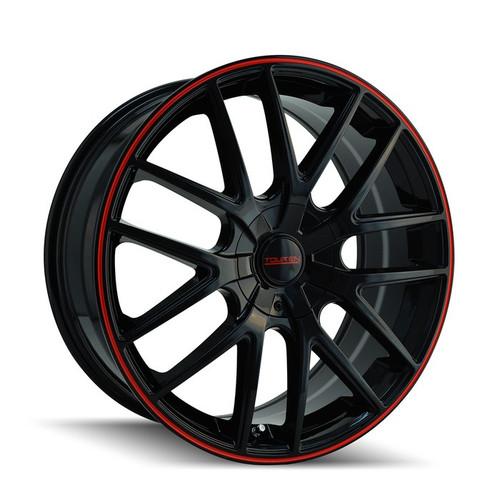 Touren 3260 Black/Red Ring 18X8 5-114.3/5-120 20mm 74.1mm