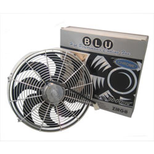 "Protocol 16"" 2700CFM Chrome Radiator Cooling Fan"