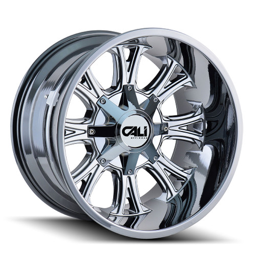 Cali Off-Road Americana PVD2 Chrome 20X12 8-180 -44mm 124.1mm