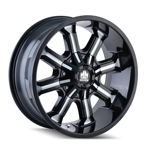 Mayhem Beast 8102 Black Milled Spokes 18x9 8x165.1/170 -12mm 130.8