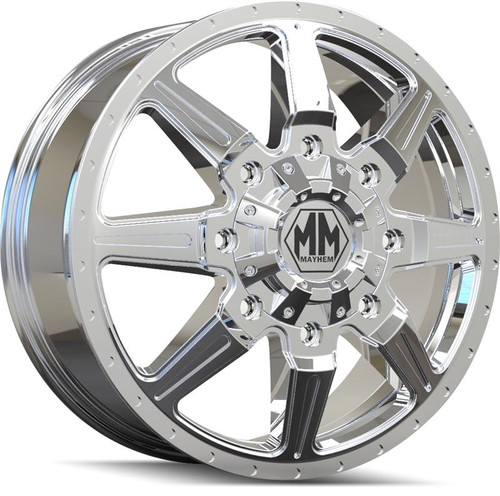 Mayhem 8101 Monstir Front Chrome 20x8.25 8x165.1 127mm 116.7