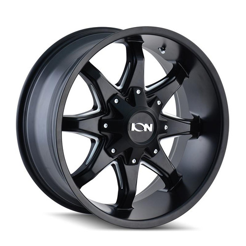 ION 181 Satin Black Milled Spokes 18x9 5x114.3/5x127 18mm 87