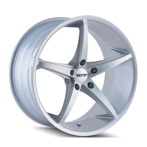 Touren TR70 Silver Milled Spokes 18x8 5-114.3 +35mm 72.62