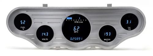 5 Gauge 4x14.5 Universal Street Rod Digital Instrument System