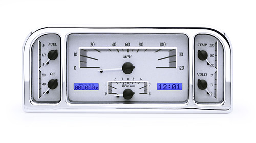 37-37 Ford Car VHX Instruments silver and blue
