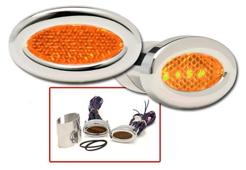 Oval LED Marker Lights in Amber